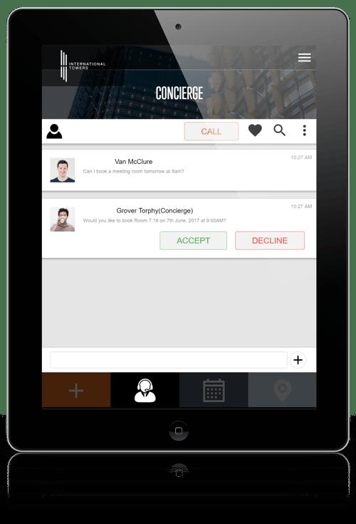Concierge Bot on iPad